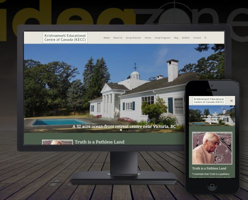 Website for spiritual organizations