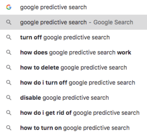 tive search before search term